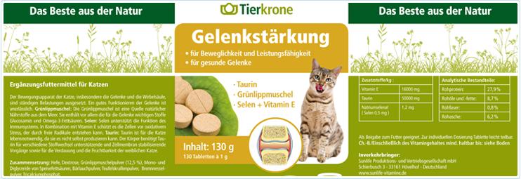 Tierkrone Gelenkstärkung für Katzen